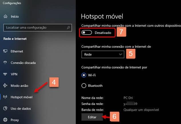 Como criar Wi-Fi hotspot no Windows, compartilhar rede conectada no Windows
