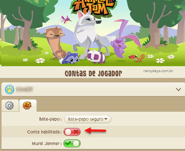 Desativar conta do Animal Jam e não excluir