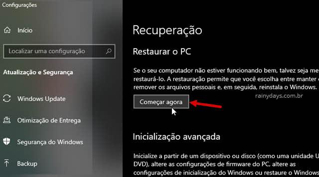O que fazer quando programa parar de responder no Windows, restaurar o PC