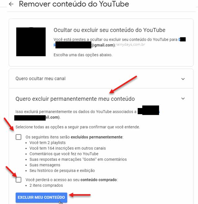 Como excluir canal do YouTube permanente