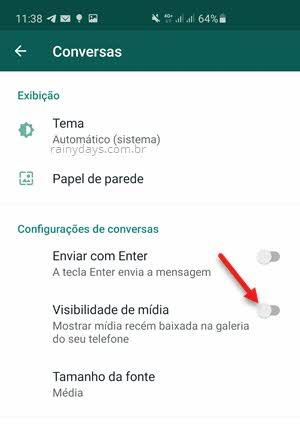 Não deixar WhatsApp salvar imagens na Galeria do Android