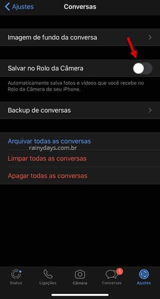 Não deixar WhatsApp salvar imagens na galeria do iPhone, app Fotos