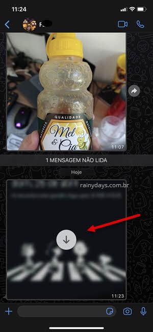 Prévia da imagem com download automático no WhatsApp desativado
