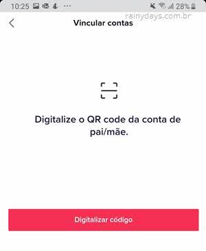 digitalizar QR Code no celular dos pais TikTok