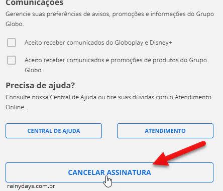 Cancelar assinatura da Globo, Globoplay, Premiere outras