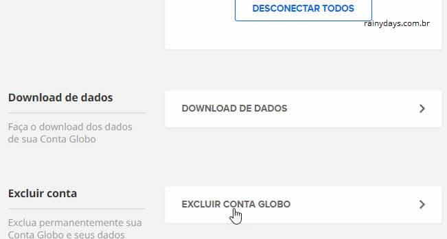 Como excluir conta Globo, Globoplay, Premiere