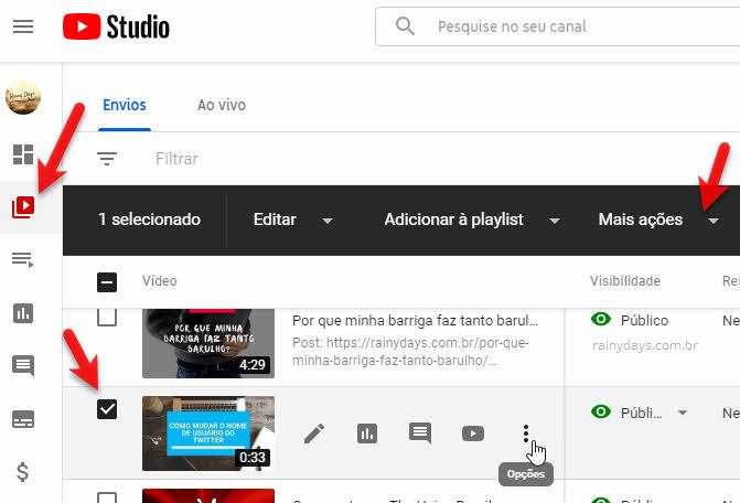 Fazer download de um vídeo de cada vez no YouTube