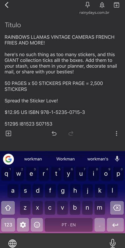 texto digitalizado e copiado da imagem com Google Lens Google Fotos