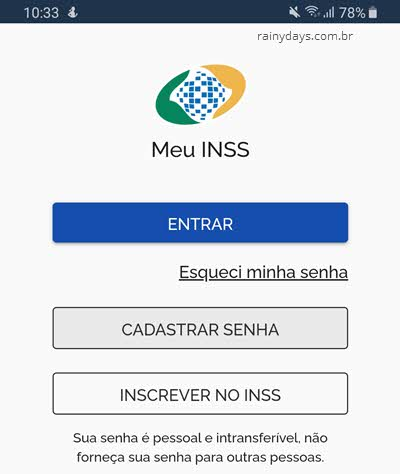 app Meu INSS Android e iPhone