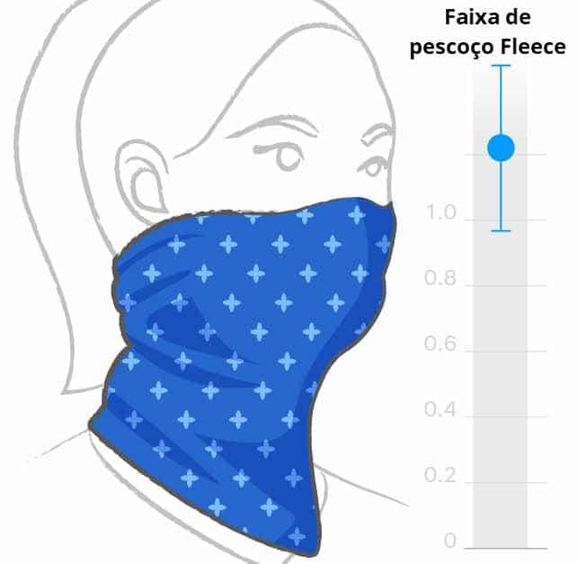 Faixa de pescoço Fleece não é bompara se proteger da Covid-19
