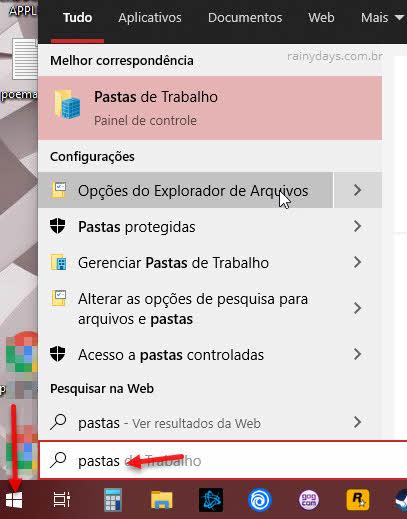 Opções do Explorador de Arquivos do Windows