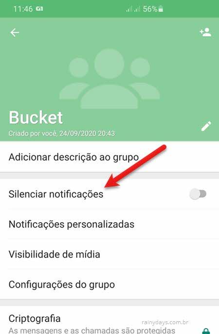 Silenciar notificações de grupos no WhatsApp