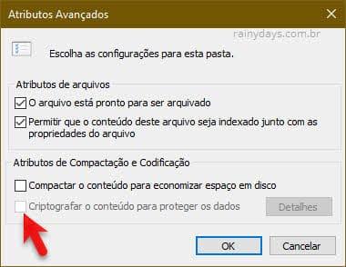 criptografar conteúdo para proteger dados pastas arquivos Windows