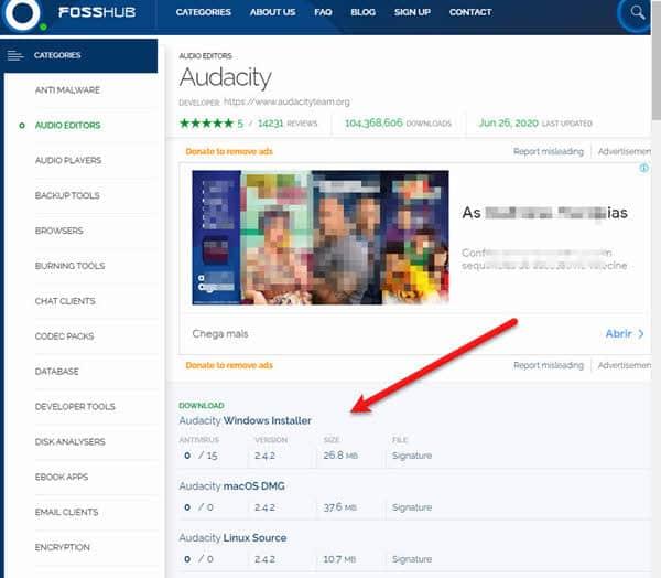 audacity download fosshub