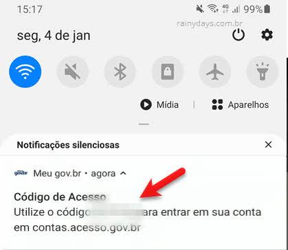 Código Meu GovBR verificação em duas etapas para login conta Gov.br