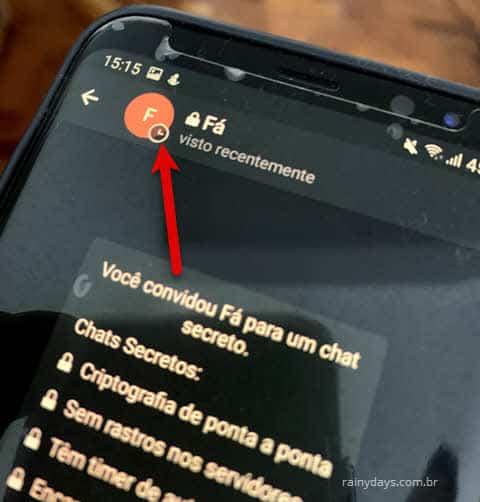 Como enviar mensagem que desaparece no Telegram Android