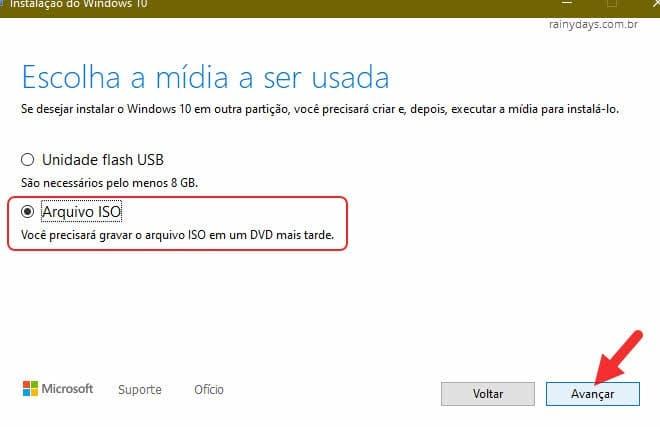 Como baixar a ISO do Windows 10 com a Ferramenta de Criação