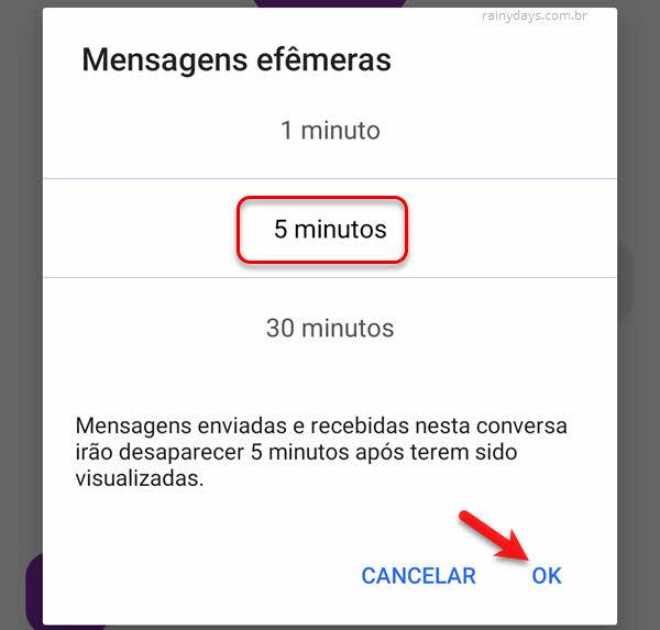 Como enviar mensagens que desaparecem no Signal do Android