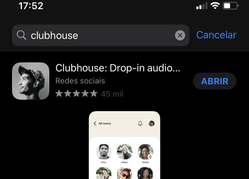 Como excluir conta do Clubhouse