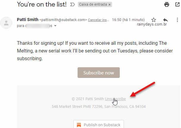 Como excluir conta do Substack, cancelar assinatura e inscrição em newsletter
