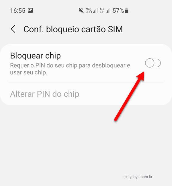 Bloquear chip colocar senha no chip do celular Android