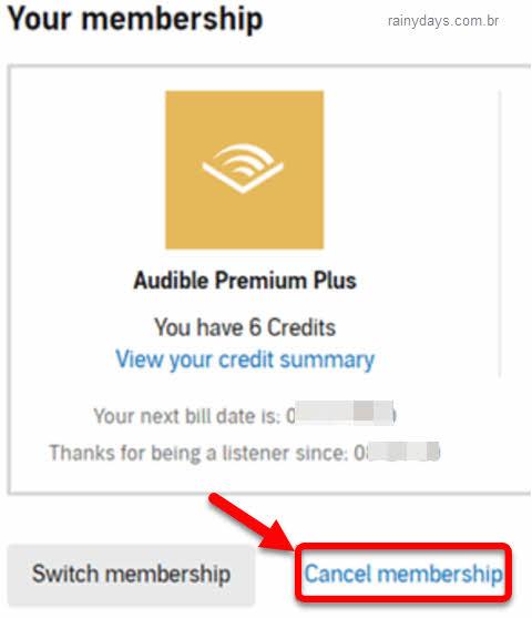 Como excluir conta do Audible e cancelar assinatura