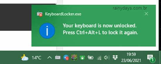 Desabilitar, bloquear, teclado Windows termporariamente