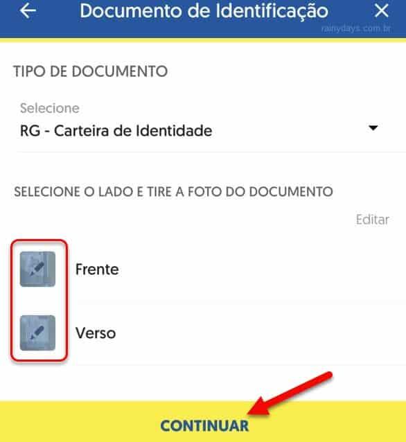Enviar foto do documento para fazer prova de vida no Banco do Brasil pelo celular