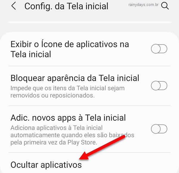 Ocultar aplicativos no Android