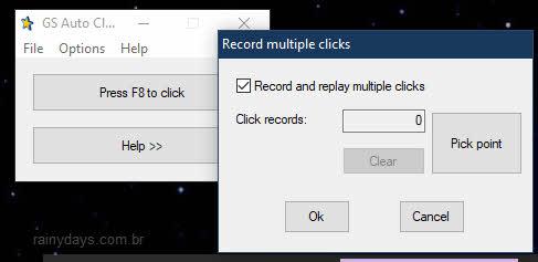 Simular cliques do mouse automaticamente, GS Auto Clicker