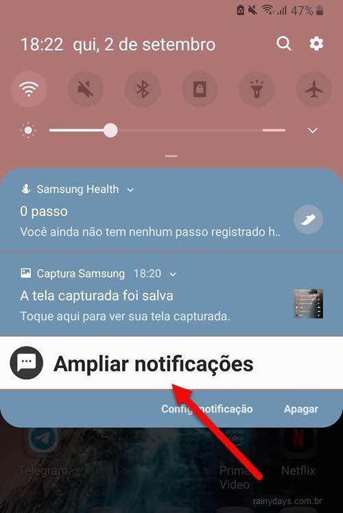 ampliar notificações app BIG Notifications
