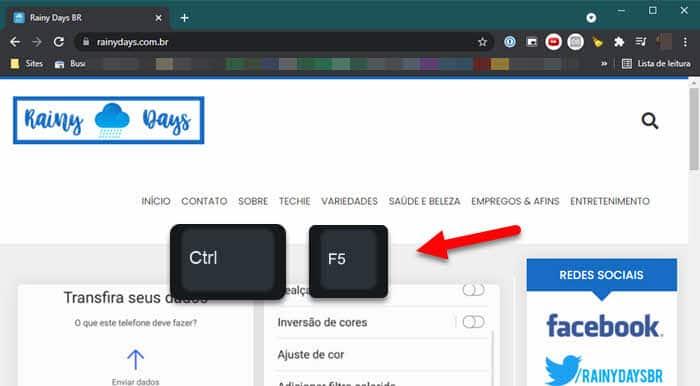 O que fazer para forçar recarregamento de página no Chrome?
